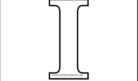 picture relating to Printable Letter I named Printable Letter I Coloring Web page Printable PDF Letter I