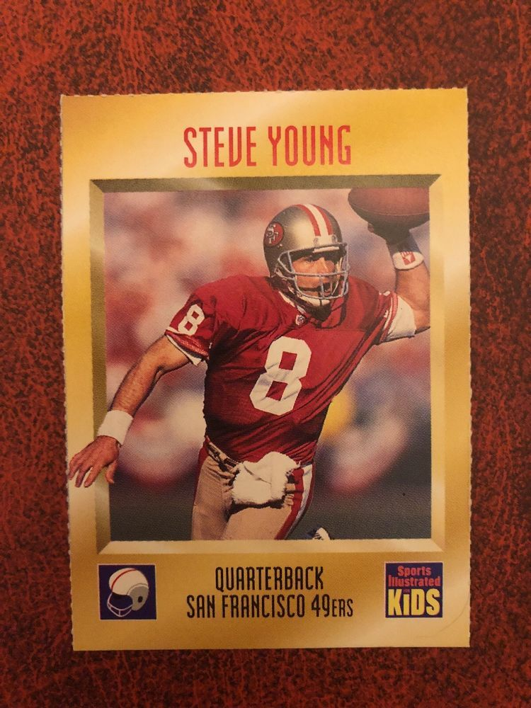 free shipping 8056b 3320d 1995 Steve Young Sports Illustrated for Kids #431 San ...
