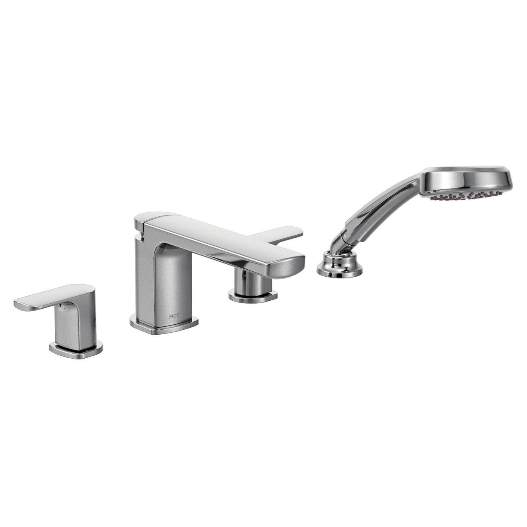 Moen Rizon Chrome Two Handle Low Arc Roman Tub Faucet Includes