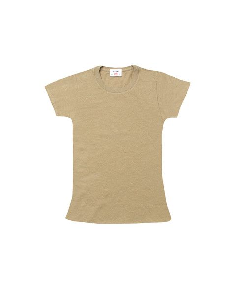 "The 1960s Slim Tee - Sand – tagged ""black, hanes, L, M, s, womens hanes, xs"" – RE/DONE"