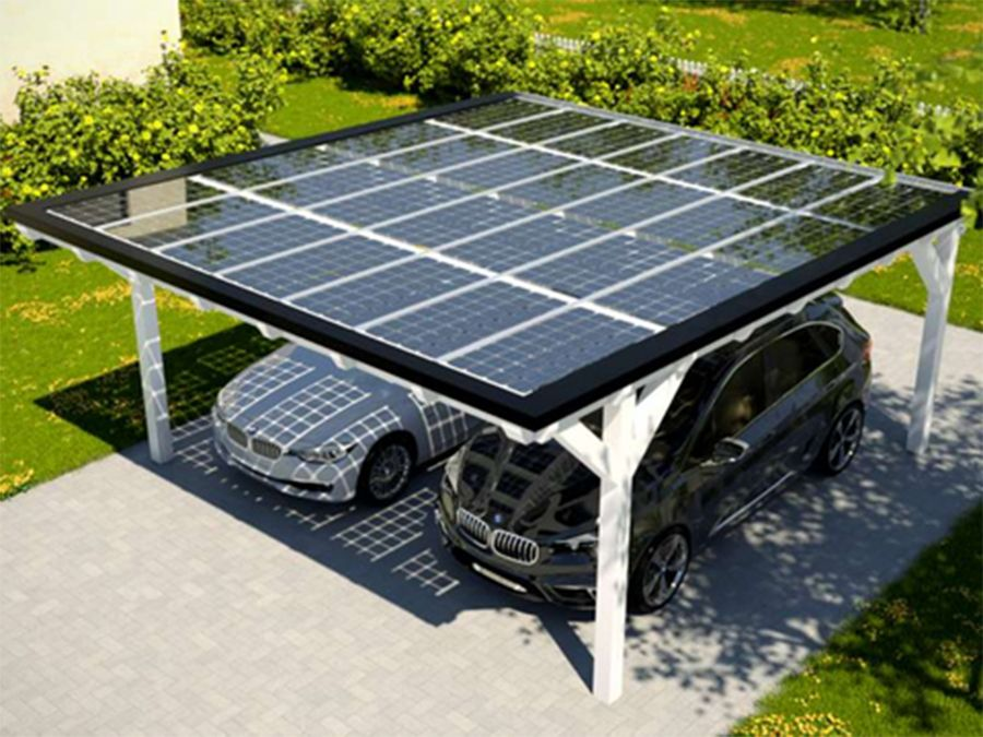 solar heisse berdachung holzbauweise carport hof. Black Bedroom Furniture Sets. Home Design Ideas