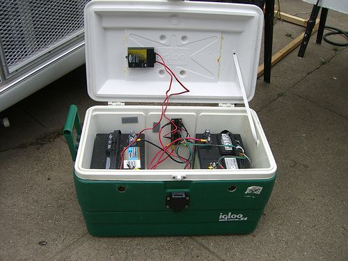 Battery Bank In A Cooler  With Images