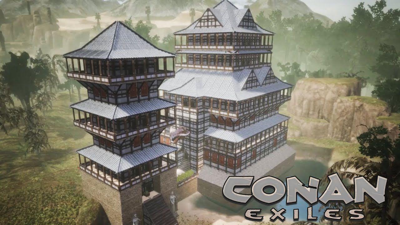 Conan Exiles Yamatai Dlc Japanese Castle Speed Build Japanese Castle Conan Exiles Building