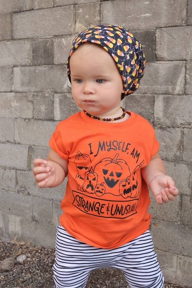 Unique Baby Unisex Halloween Pumpkin Shirt