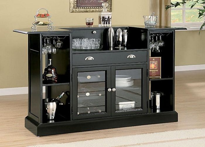 Home Bars Ravishing Contemporary Black Bar Sets Wet Counter Cabinet Table Stools Custom Entryway