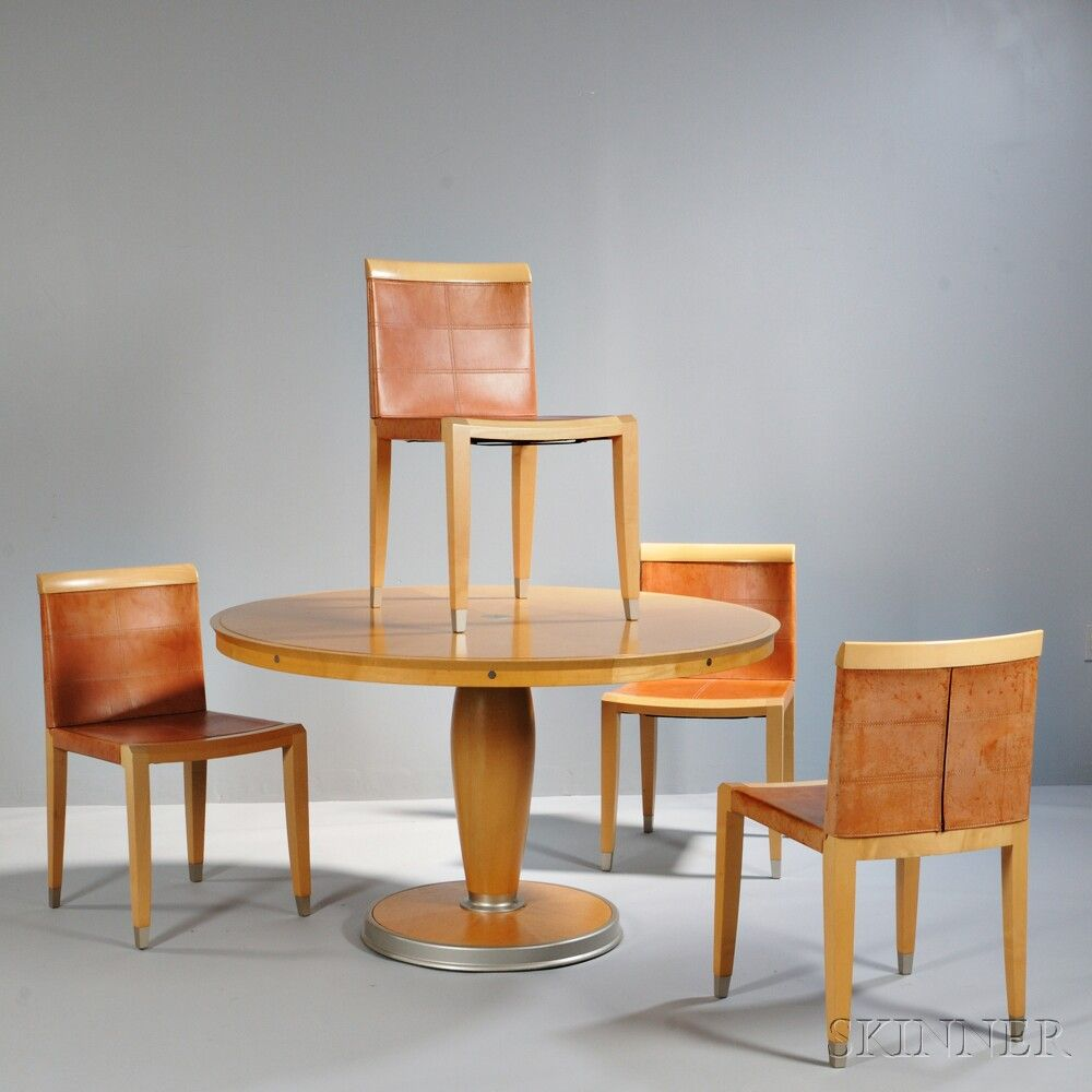 Ching Wing Lo For Giorgetti Dining Table And Four Aro Chairs