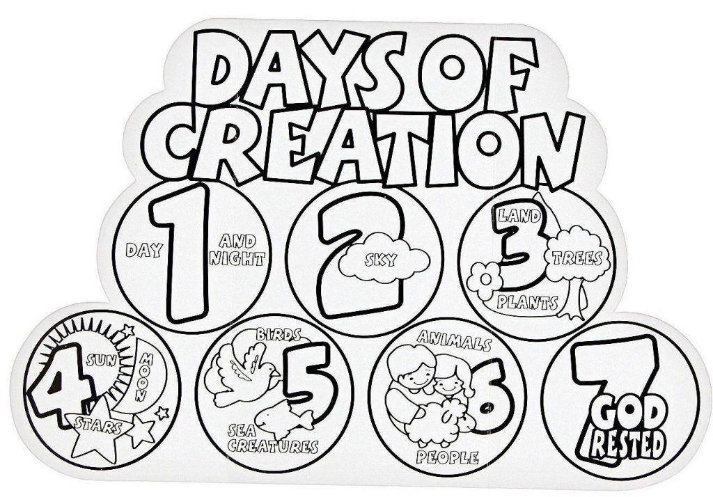 Creation Coloring Pages Creation Coloring Pages 7 Days Of