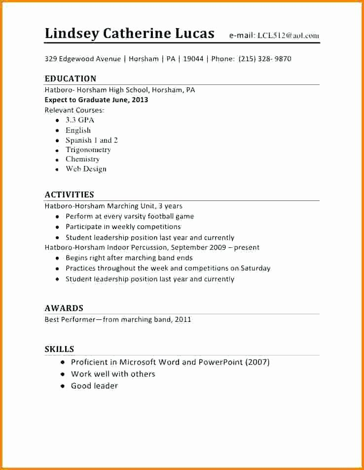 High School Job Resume Elegant Puters Business 2 04 19 First Job Resume Job Resume Examples Student Resume Template