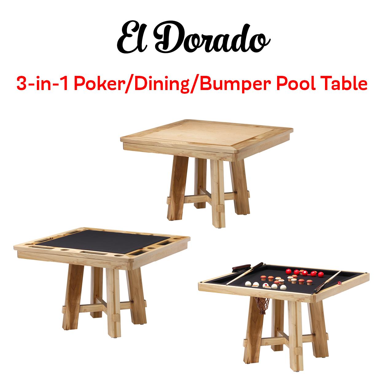 The darafeev el dorado combination game table comes in a variety of