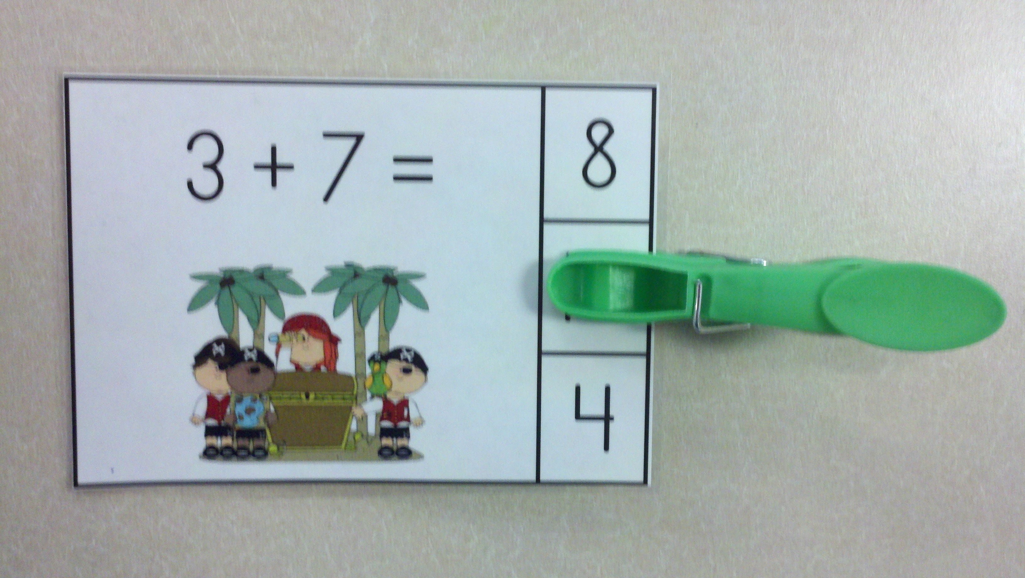 Pirates and Parrots Addition Math Centers (Sums of 0-10) | Math ...