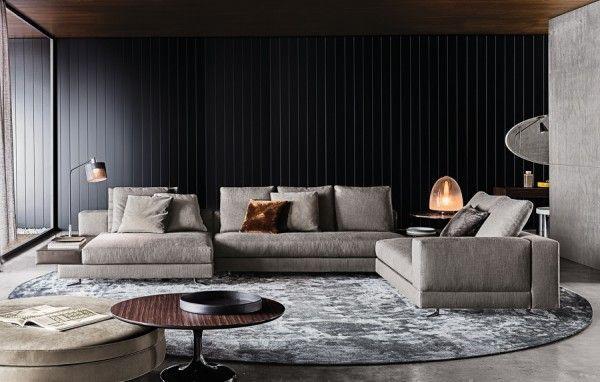 Gray-Couchgarnitur Interieur Design Pinterest Einrichtung - graue moebel einrichtung modern ideen