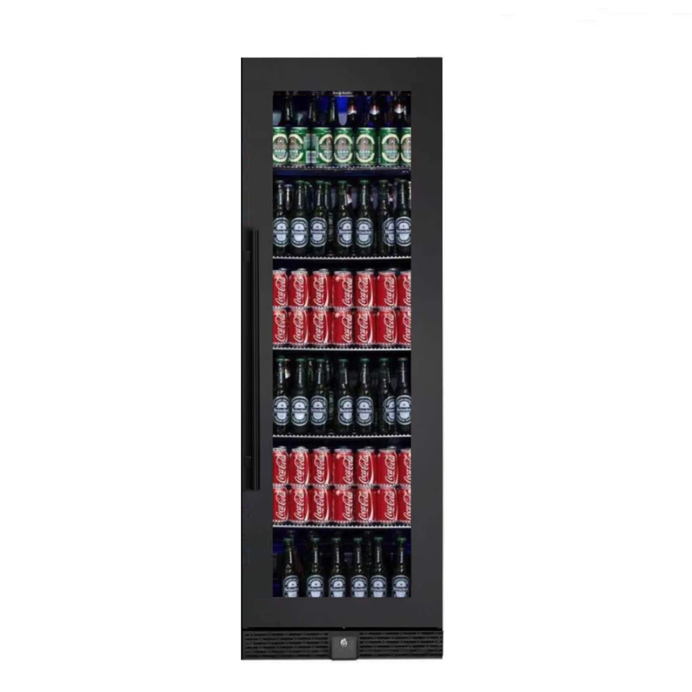 72 Large Beverage Refrigerator With Clear Glass Door in