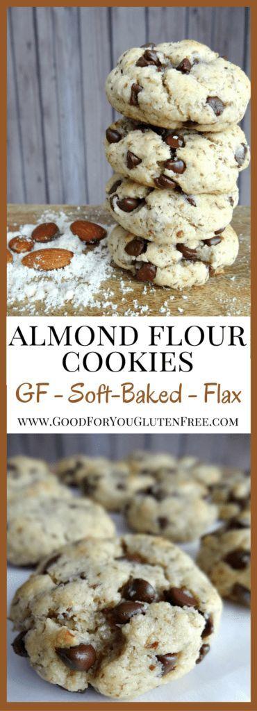 Three-Bite Almond Flour Cookies - Gluten-Free Recipe #flaxseedmealrecipes