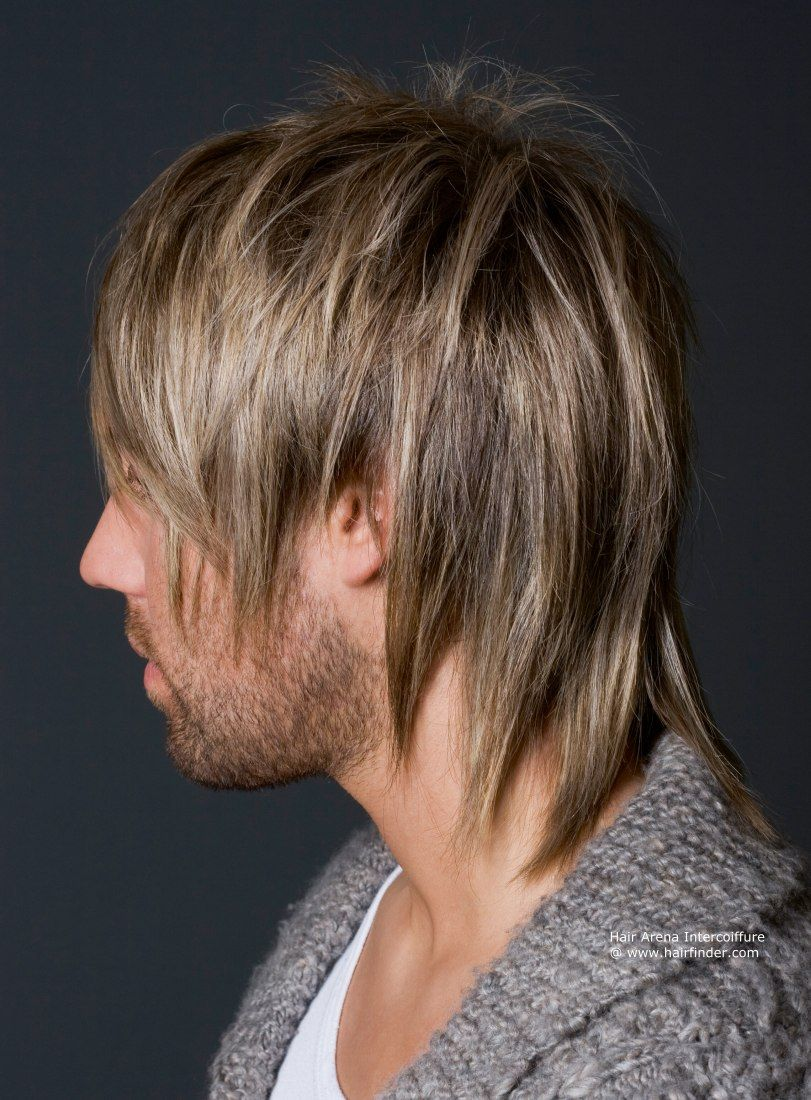 wild men's hairstyle | razor-cut long-layered look and