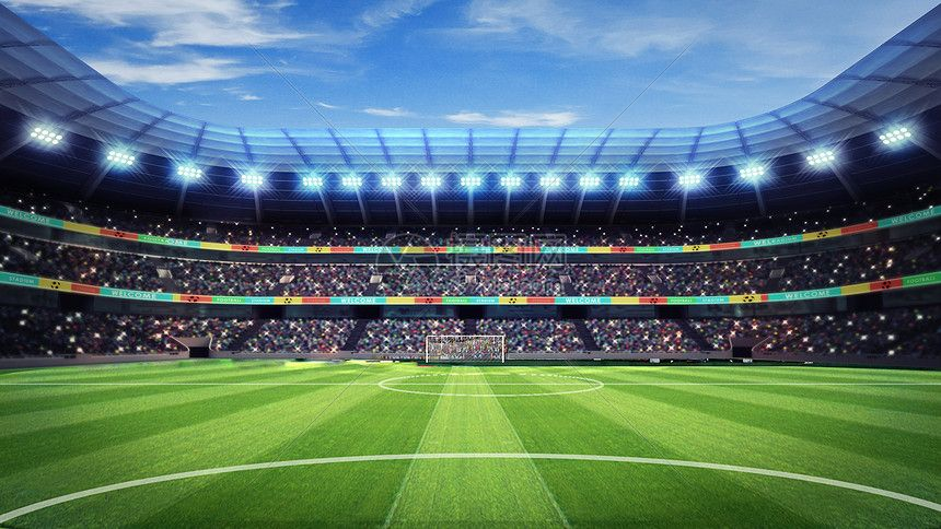 Football Field Web App Design World Cup Background