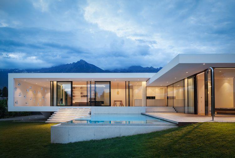 freistrehendes einfamilienhaus modern bauen architektur meran ...