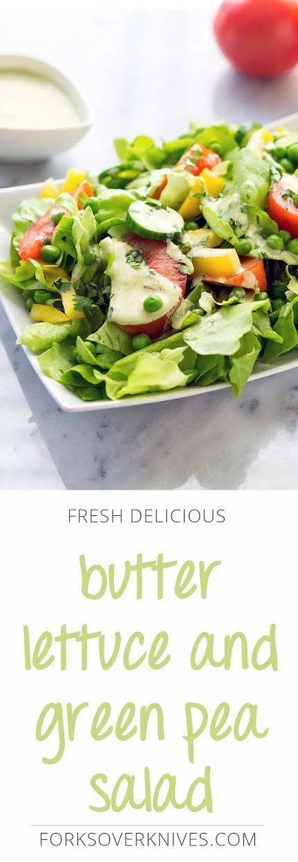 Butter Lettuce and Green Pea Salad | Recipe | Green pea ...