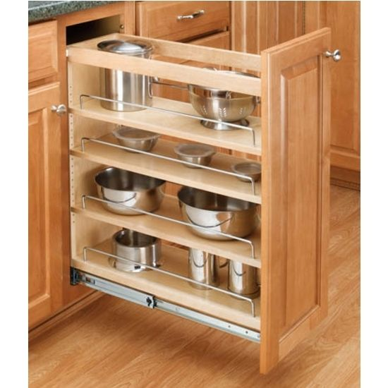 Rev A Shelf 5358 10 5300 Series 10 Inch By 59 Inch Tall Two Tier Pull Out Pantry Maple Tall Cabinet Organizers Pull Out Pantry Organizers Pull Out New Kitchen Cabinets Kitchen Furniture Kitchen Design
