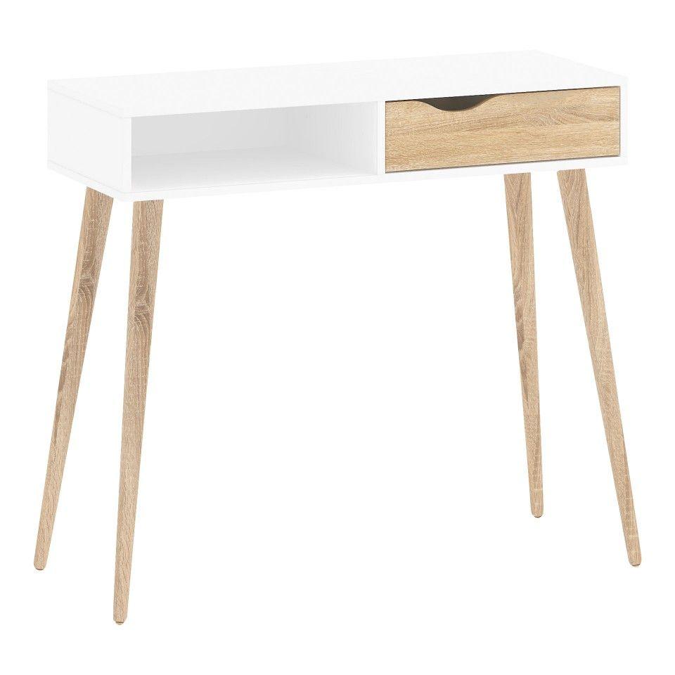 schreibtisch delta 103 x 43 5 cm wei d nisches bettenlager schreibtisch pinterest. Black Bedroom Furniture Sets. Home Design Ideas