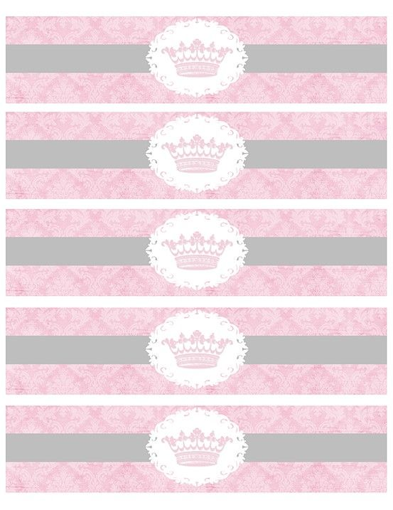 picture about Printable Water Bottle Labels identify Pin by means of no0ny no0n upon Crimson Child shower princess
