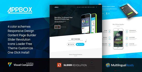 AppBox - App Landing & App Store WordPress Theme   Wordpress premium ...