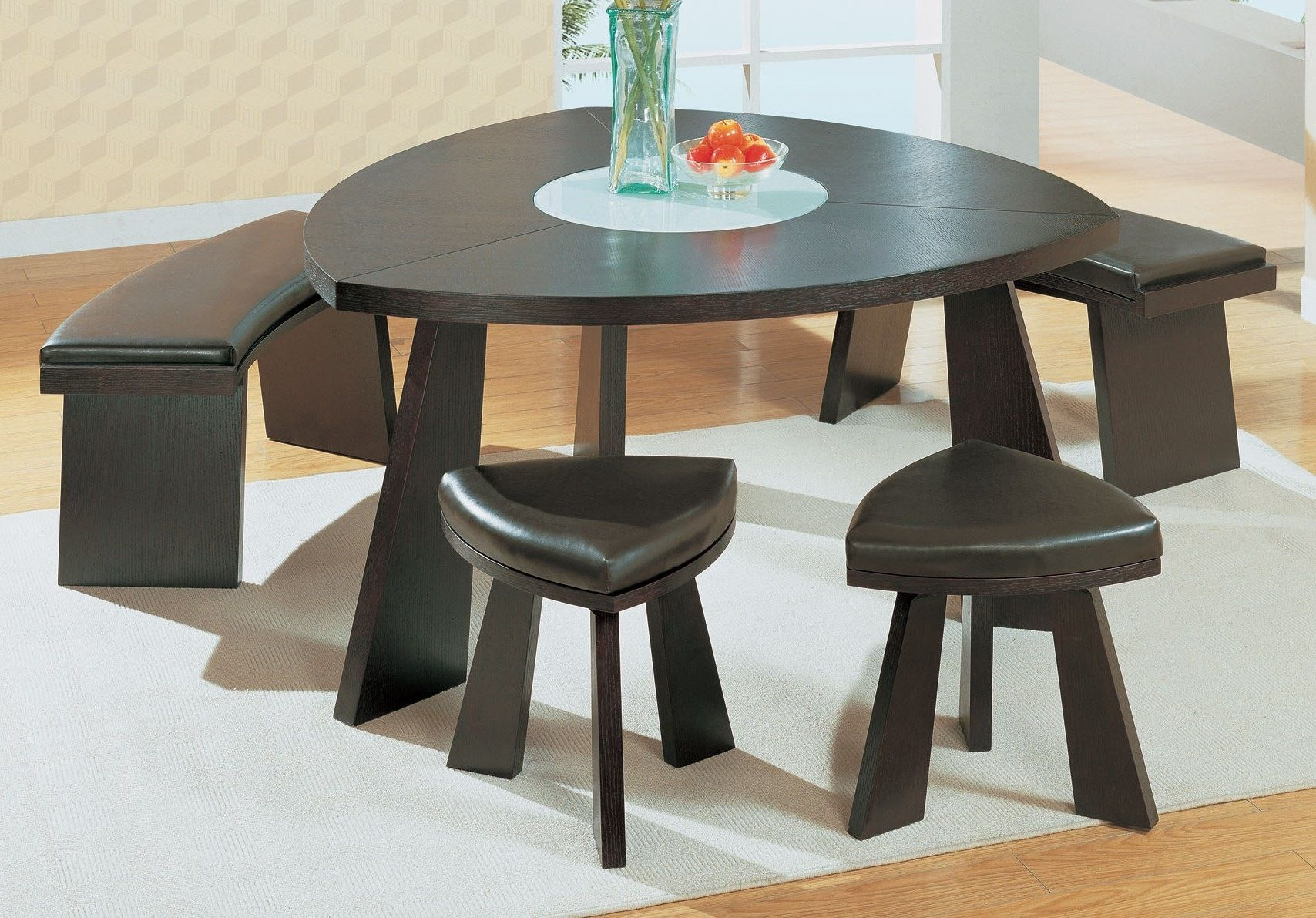 Triangle Dining Set Gl Dt