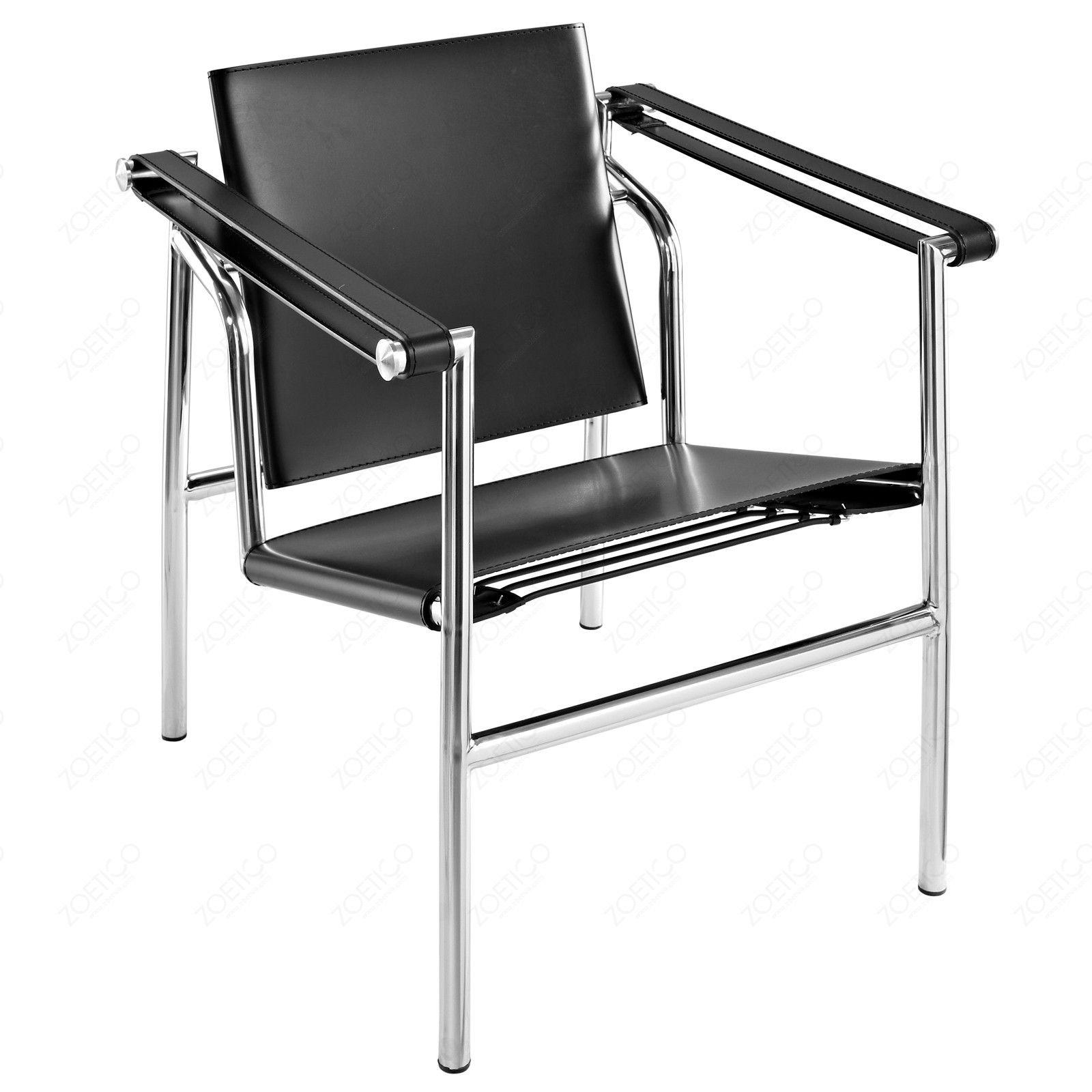 Lc1 (Sling Chair, Metal Frame) Design Le Corbusier, Pierre Jeanneret,