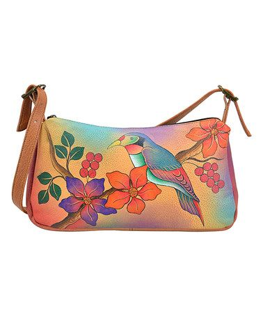 44f898138d40 Look what I found on  zulily! Bird On Branch Hand-Painted Leather Shoulder  Bag  zulilyfinds