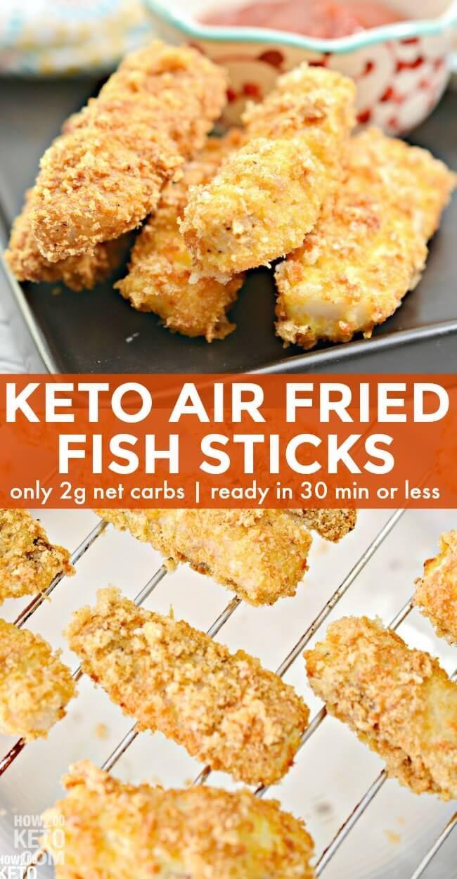 Crispy Keto Air Fryer Fish Sticks Recipe in 2020 Air