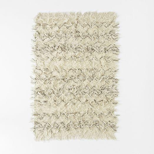 Chevron Wool Shag Rug | West Elm