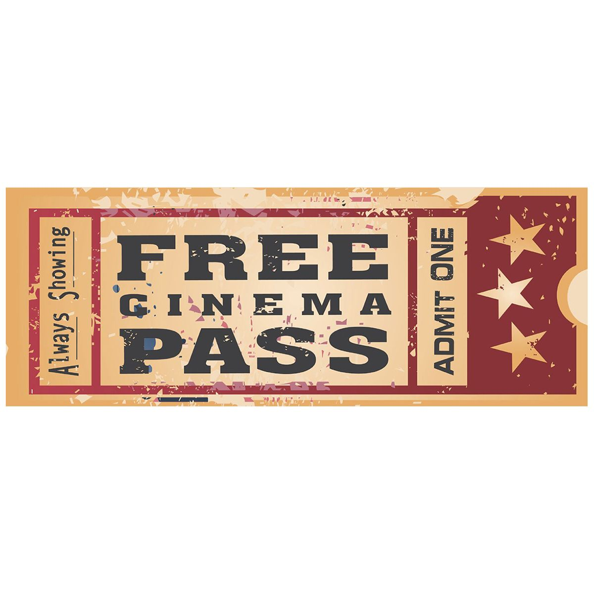 Free Cinema Pass Old Time Movie Ticket Metal Sign How To Memorize Things Theater Room Decor Home Theater