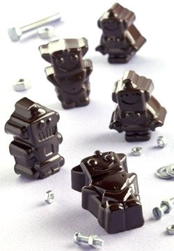 robot chocolate molds