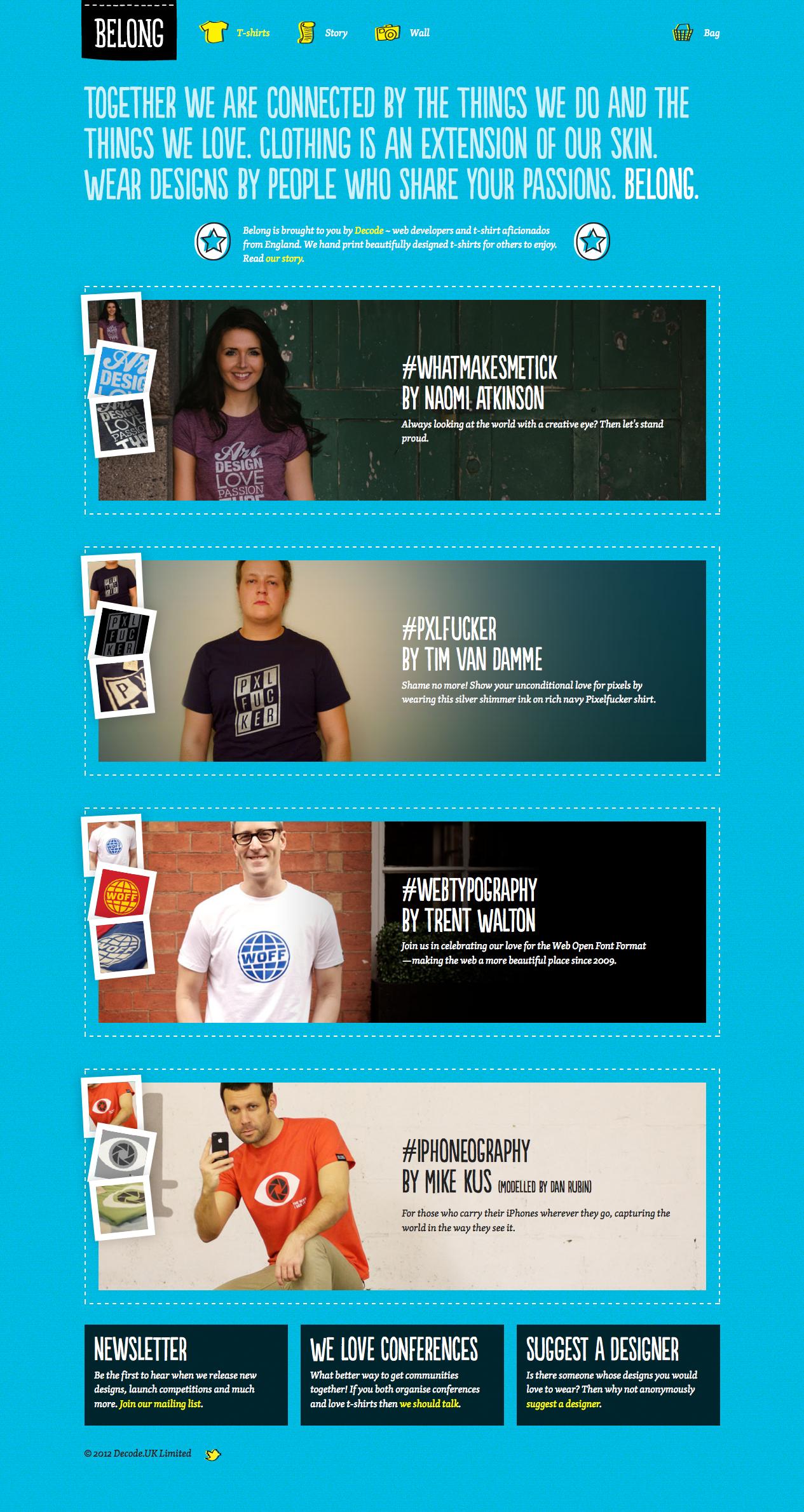 http://wearyoubelong.com/ responsive homepage