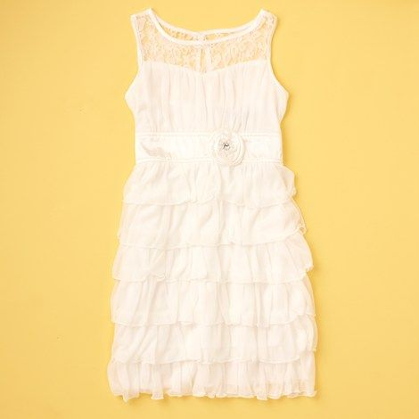 c8380a7a9b2 Tiered Ruffle and Lace Dress (7-16) Burlington Coat Factory.  24.99 Love