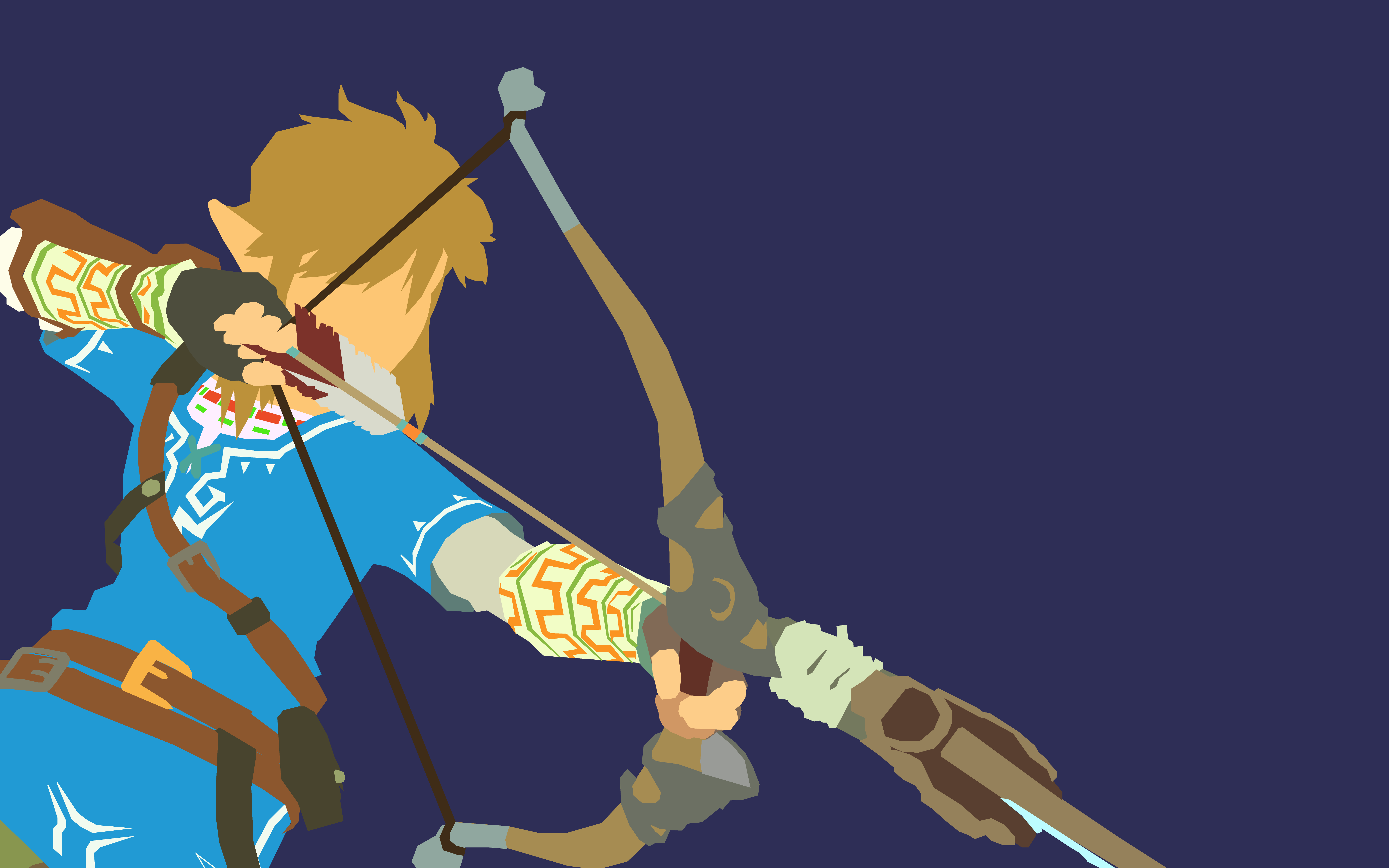 BotW I Made Some Minimalist Link Wallpapers At An Absurdly High
