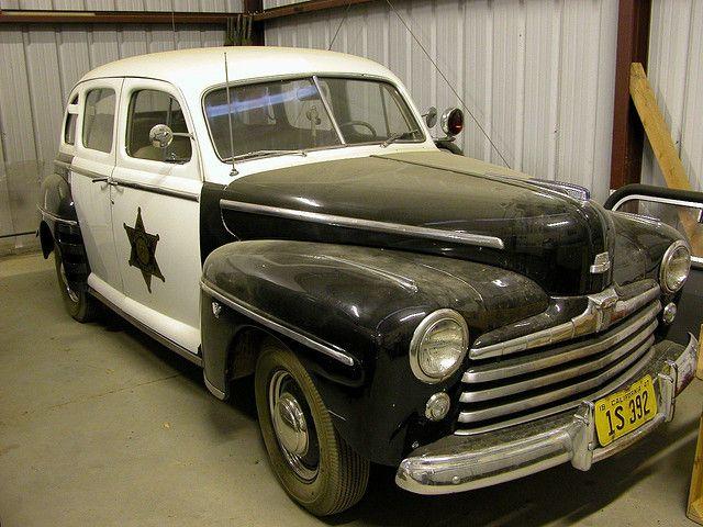 1947 Ford Sedan Vintage Police Car Police Cars Old Police Cars