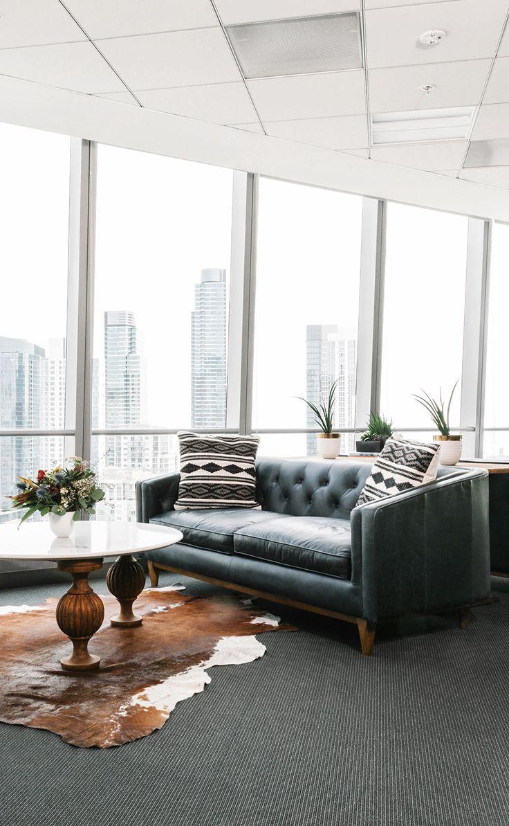 Black Leather Sofa In Walnut Wood Finish | Article Alcott Modern ...