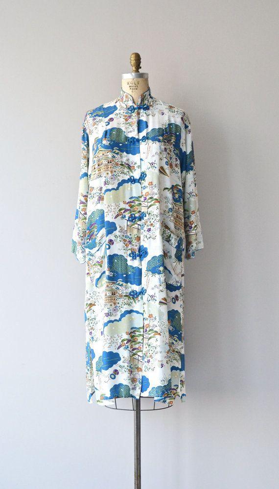 Noshiro robe vintage 1940s lingerie japanese 40s by DearGolden