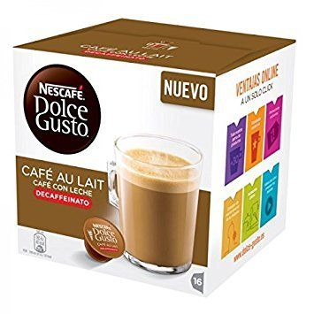 Nescafe Dolce Gusto Pods Capsules Cafe Au Lait Decaffeinated New