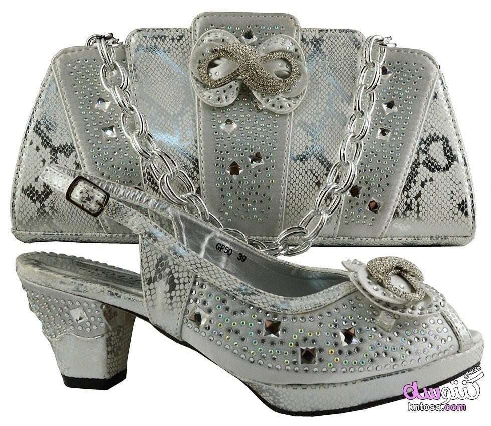 أحدث تصميم النبيلة2019 الأحذية والحقائب 2019الإيطالية مطابقة حذاء Shoes Valentino Studs Heels