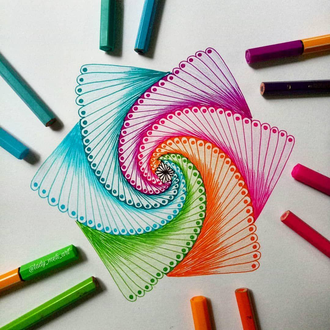 Рисуем красивые картинки фломастерами
