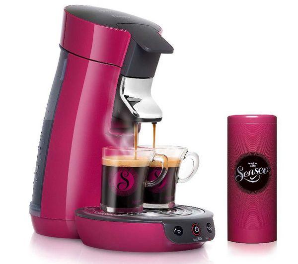 philips senseo viva café hd7825/49 rose framboise - machine à café