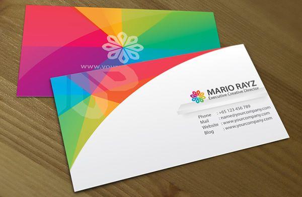 Rainbow Petals Business Card
