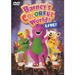 Barney Colorful World Walmart Com Barney Barney The Dinosaurs Barney Friends