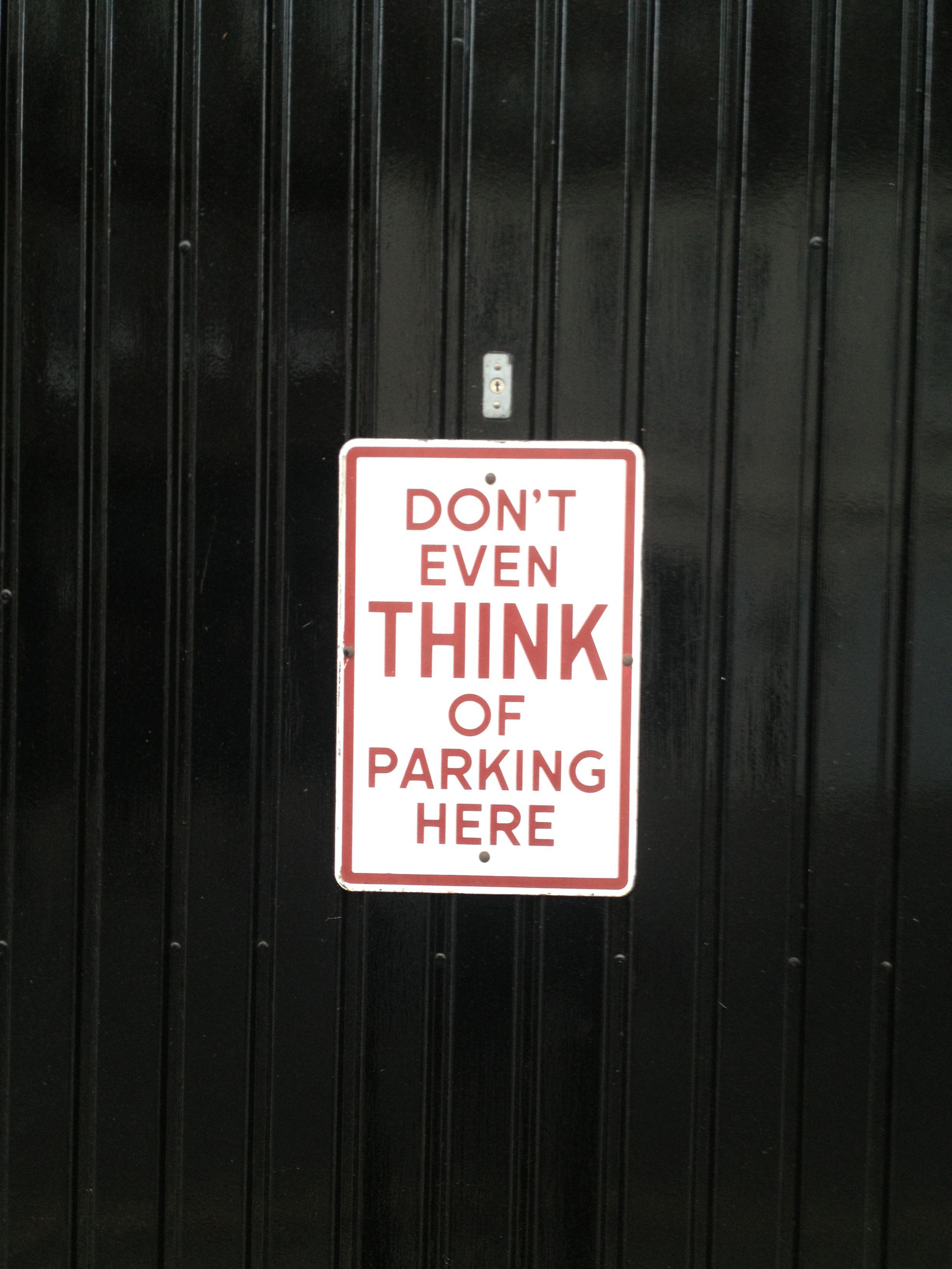 Garage Door Sign In Chelsea London No Misunderstanding