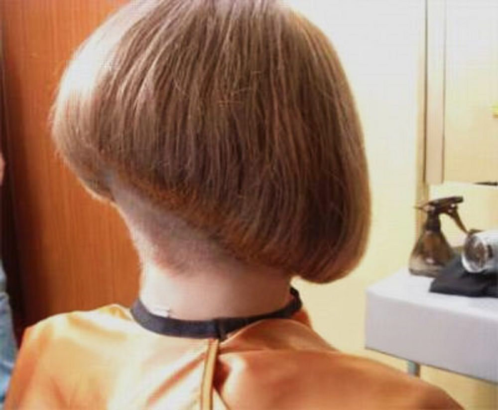 What A Gorgeous Angle This Beautiful Shaved Bob Stunning Napes