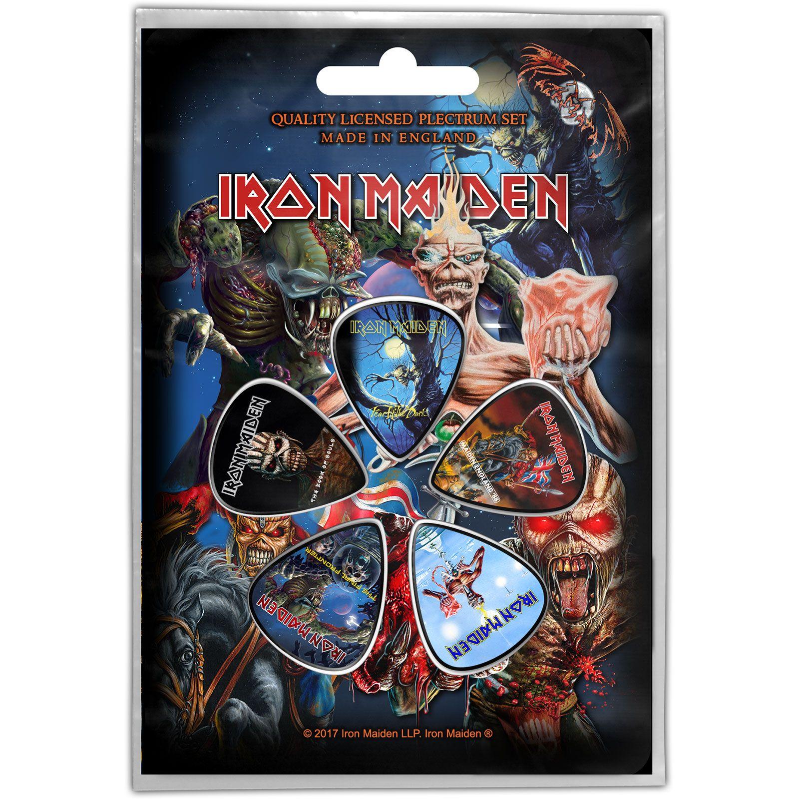 7e219470833d Iron Maiden gitárpengető szett, nem csak gyűjtőknek ! Zenekaros Cuccok,  Metallica, Gitárok