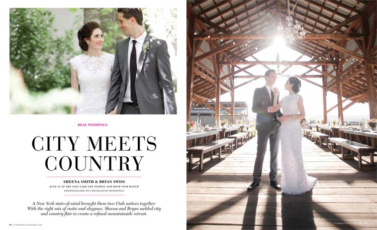 Utah Bride And Groom Magazine City Meets Country Wedding