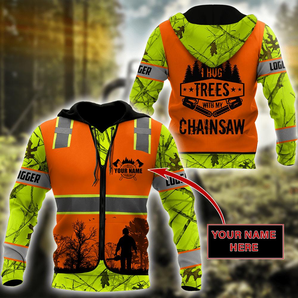 3D Chainsaw Logger Custom Name Unisex Shirts AM112057