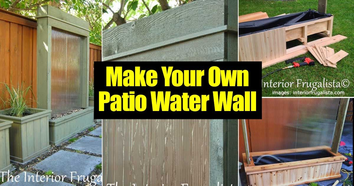 A Water Feature On A Patio Can Add A Lot Of Charm And Tranquility. Have